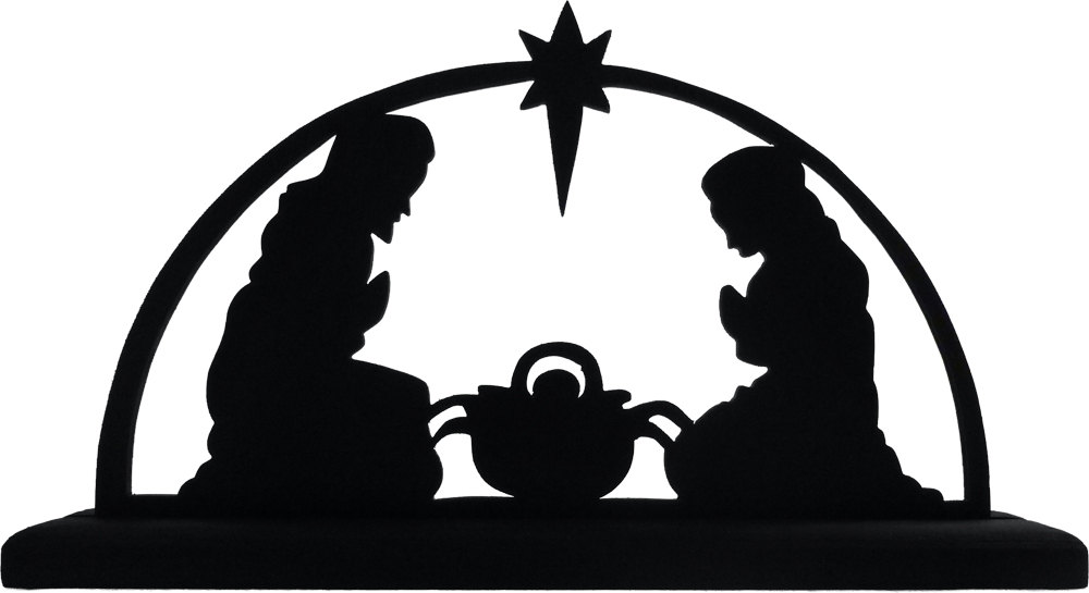 Nativity Silhouette Clipart - Clipart Kid