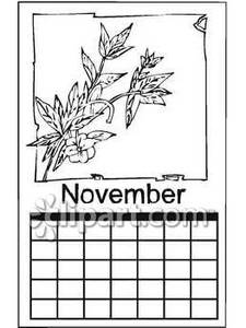 November Clipart Black And White Black And White November