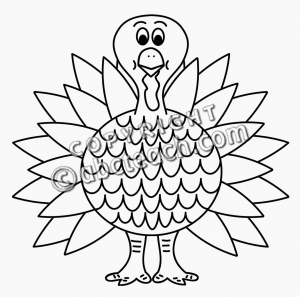 Of 1 Cartoon Turkey Clip Art In Black And White Is A Fall Favorite