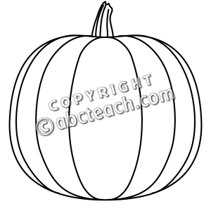 Of 1 Pumpkin Clip Art In Black And White Re Size The Image