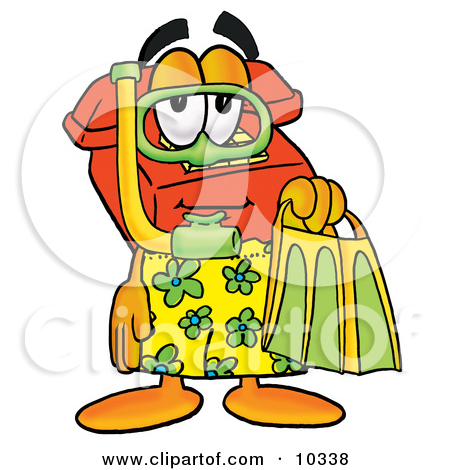 Red Telephone Mascot Cartoon Character In Green And Yellow S