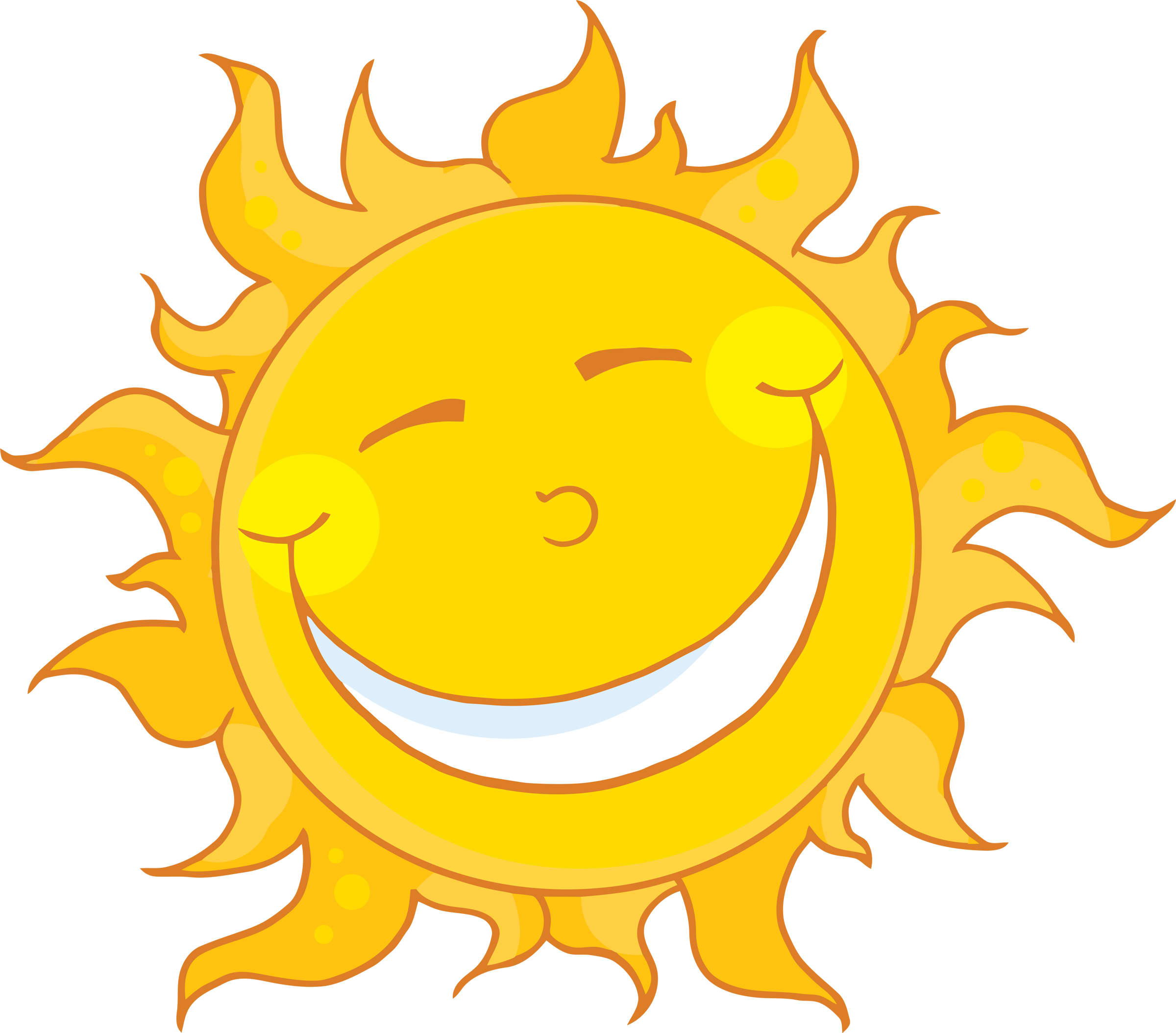 Sunshine Happy Face Clipart - Clipart Kid