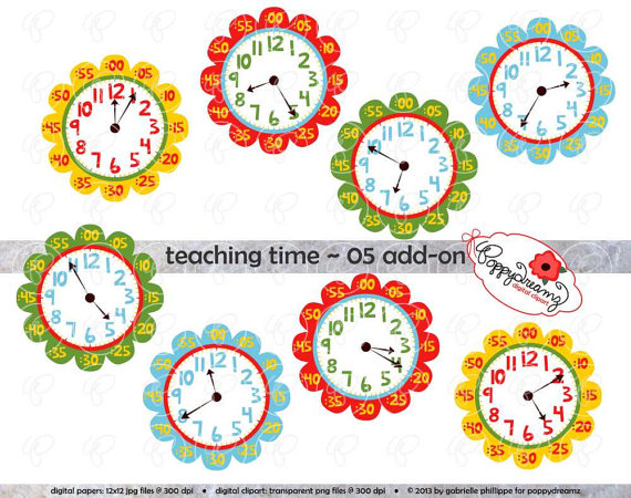 Teaching Time 05 Add On Clipart  Digital Clip Art Pack  300 Dpi