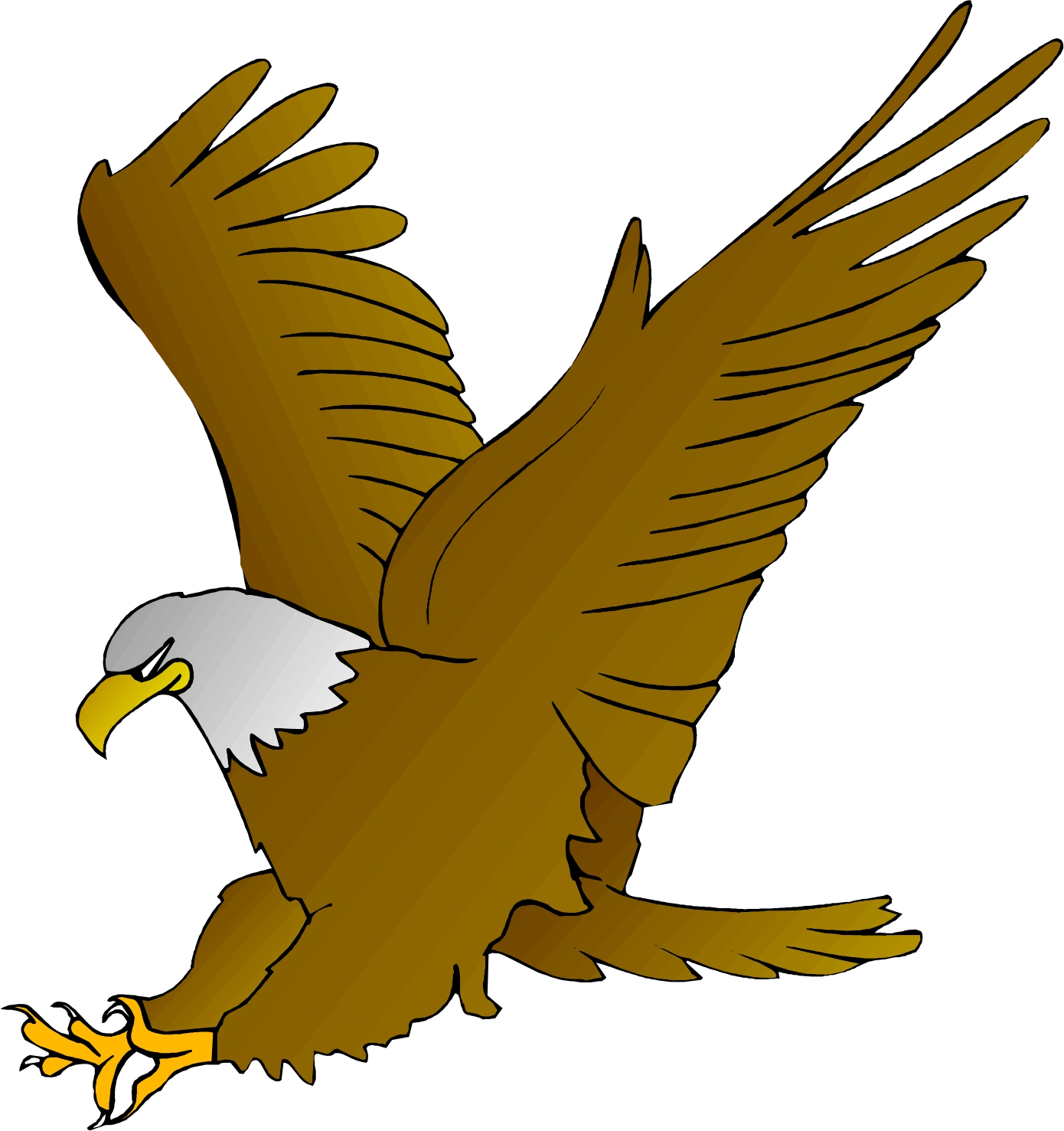 Cartoon Eagle Clipart - Clipart Kid