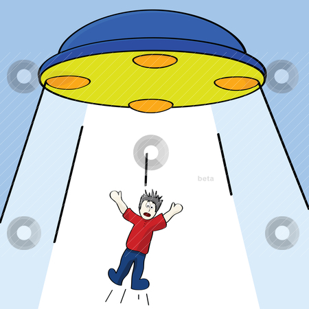Alien Abduction Stock Vector Clipart Cartoon Illustration Showing A