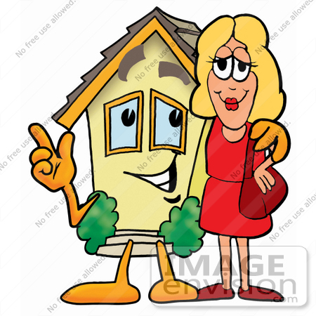 Art Graphic Of A Yellow Residential House Cartoon Character Clipart