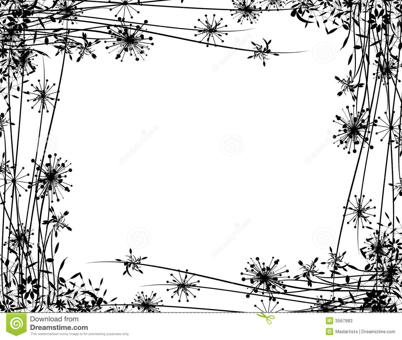 Background Border Or Frame Illustration Featuring A Black Silhouette