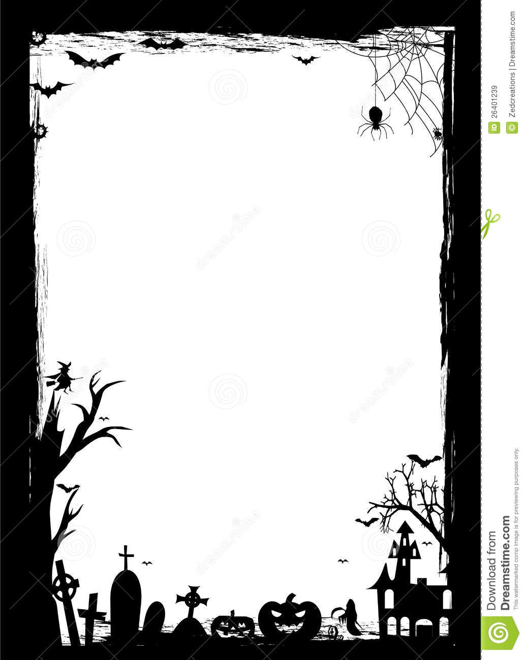 Black   White Halloween Border An Additional Vector  Eps File