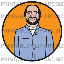 Businessman In Business Casual Clothing Clipart Illustration   Image