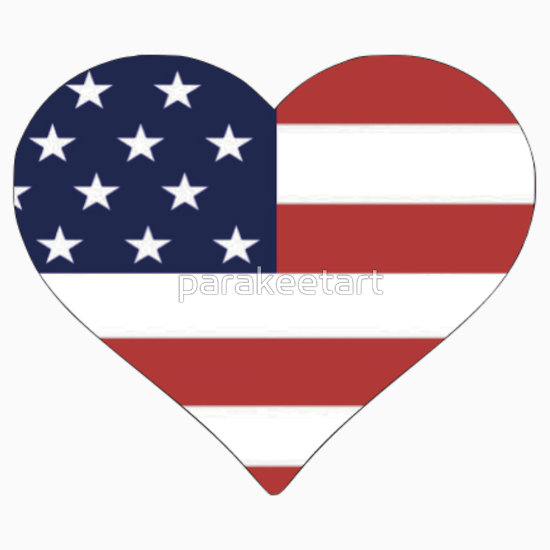 American Flag Heart Clipart - Clipart Kid