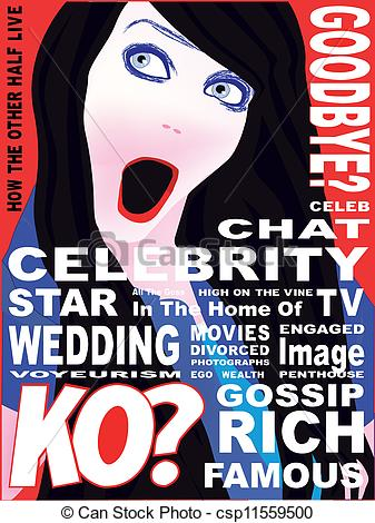 Clipart Of Celebrity Magazine Cover   A Spoof Celebrity Magazine