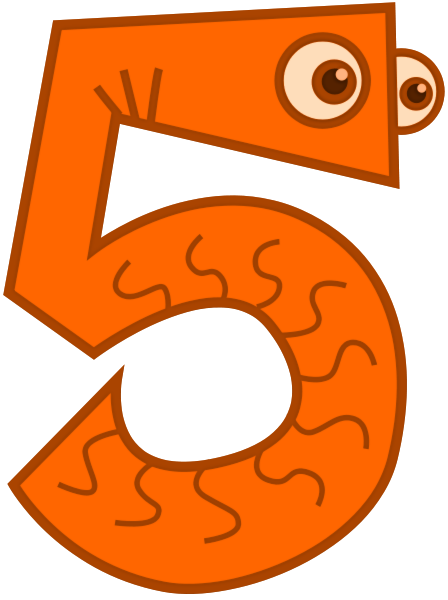 Clipart Of Number 5