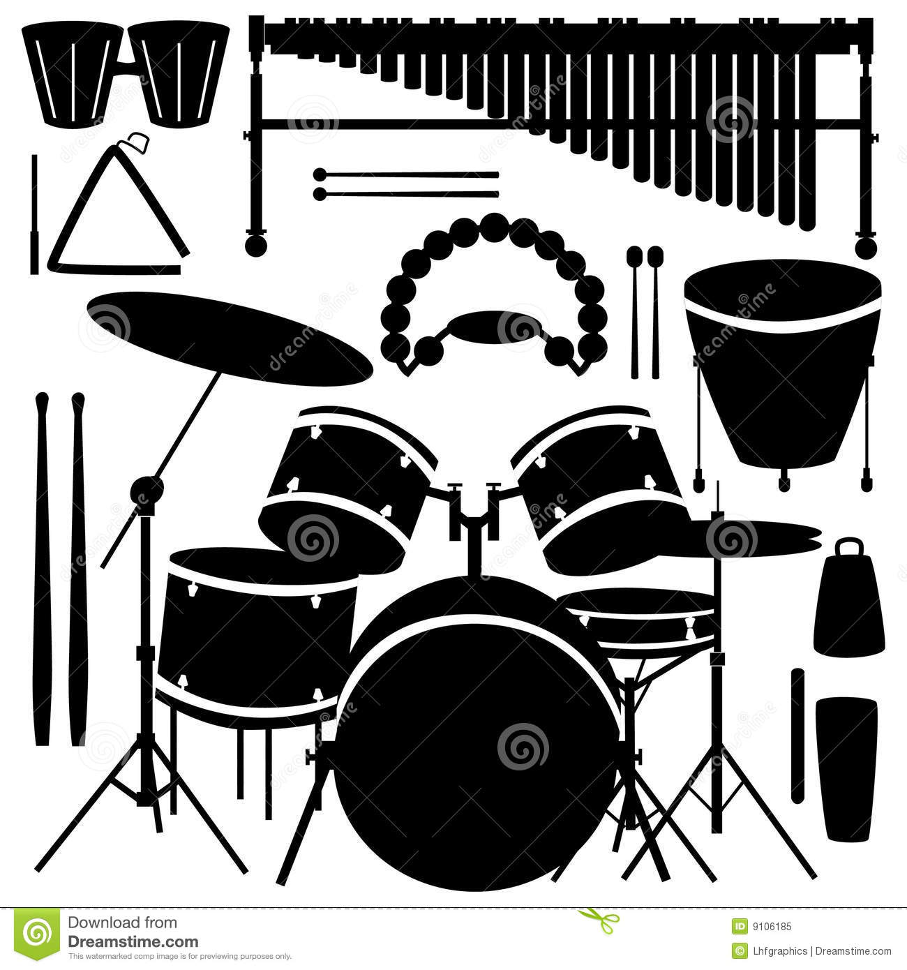 Drums And Percussion Instruments Royalty Free Stock Photo   Image
