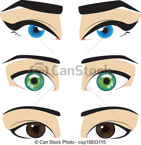 Eyes Collection  Blue Green Brown Eyes With Matching Eyebrows