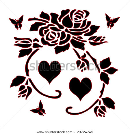 Flower Border Clipart Black And White   Clipart Panda   Free Clipart