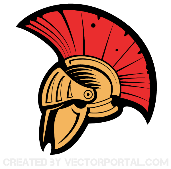 Free Vector Clip Art Image   Roman Centurion Helmet With Red Horse