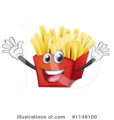 French Fries Clipart  1149100 By Colematt   Royalty Free  Rf  Stock
