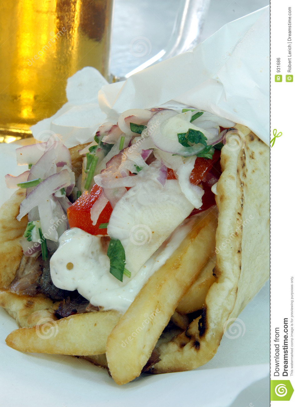 Greek Gyro Royalty Free Stock Image   Image  931686