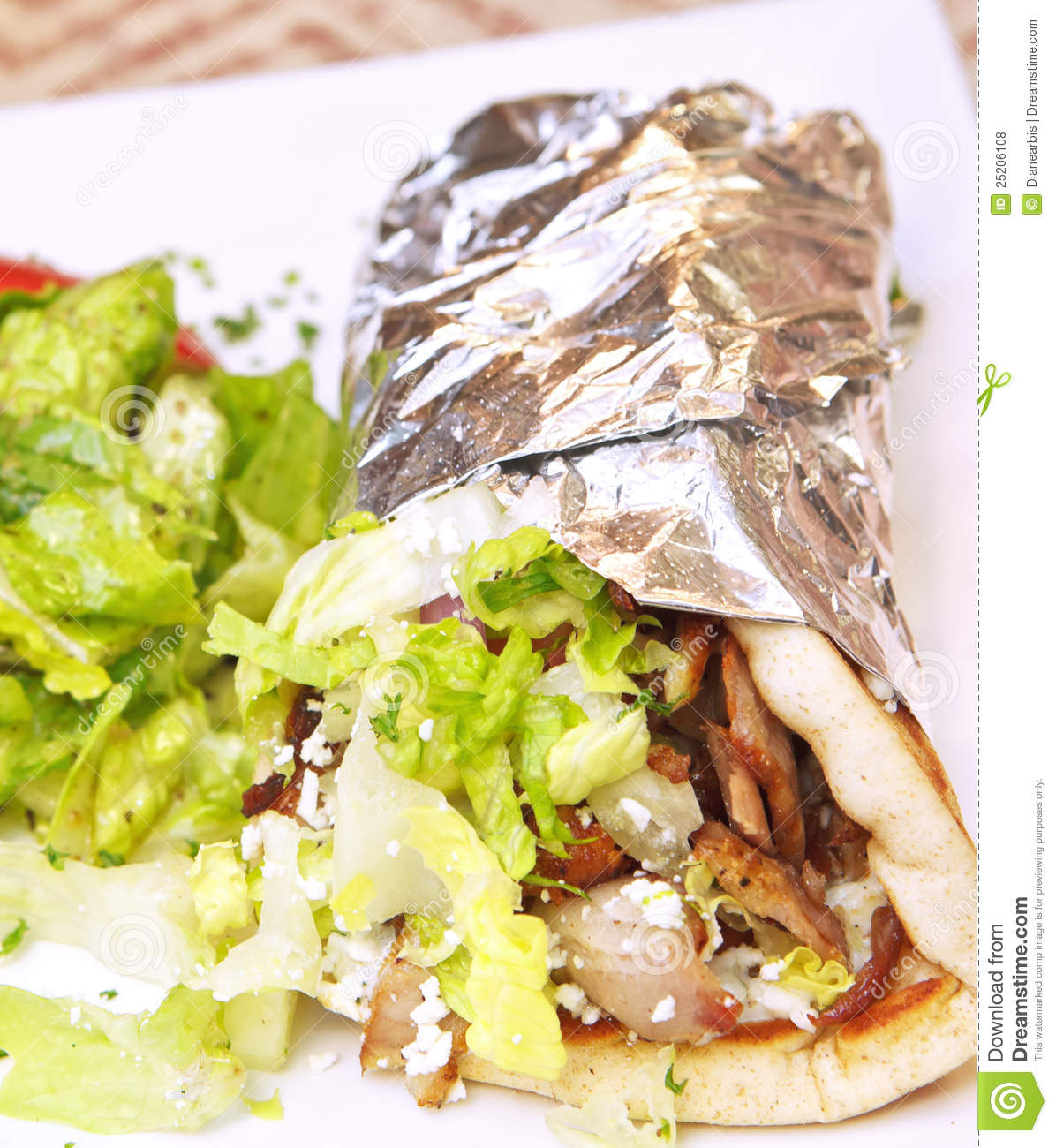 Greek Gyro Royalty Free Stock Photos   Image  25206108