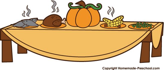 Thanksgiving Family Dinner Clip Art thanksgiving dinner table clipart ...