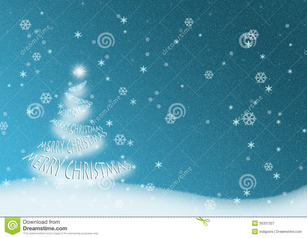 Ilration Of Christmas Tree Garland