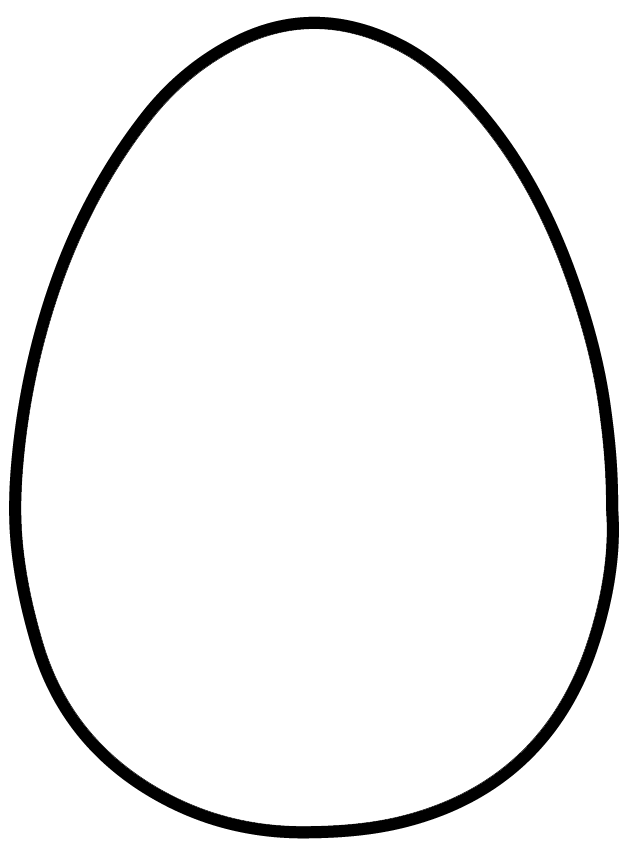 Large Easter Egg Template Printable