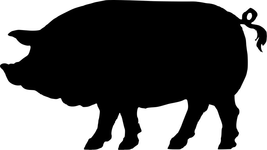 Pig Silhouette Clipart - Clipart Kid