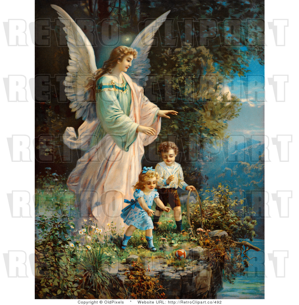 Guardian Angel Free Clipart - Clipart Kid