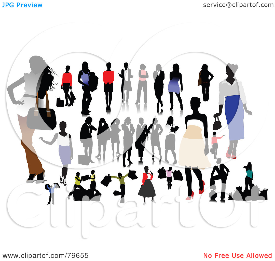 Rf  Clipart Illustration Of A Digital Collage Of Fashionable Casual