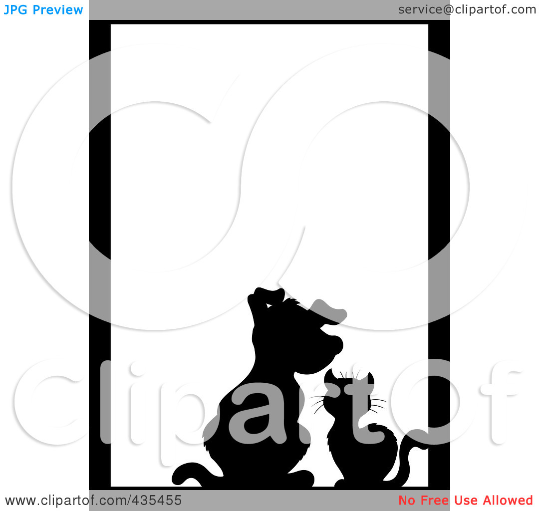 Royalty Free  Rf  Clipart Illustration Of A Black Silhouette Cat And