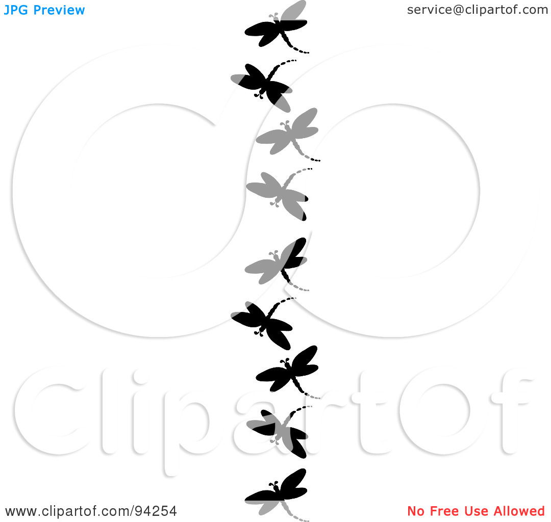 Royalty Free  Rf  Clipart Illustration Of A Vertical Border Of Black