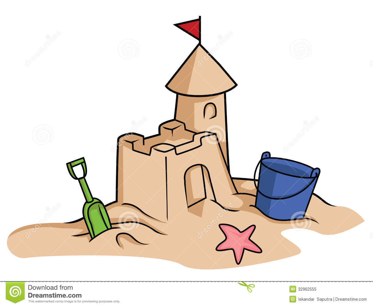 Sand Castle Royalty Free Stock Photo   Image  32962555
