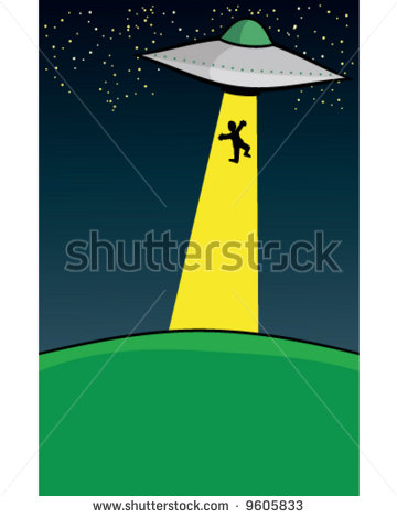 Ufo Abduction Clipart Beam For Alien Abduction