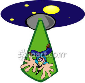 Ufo Abduction Clipart Man Being Abducted By An Alien