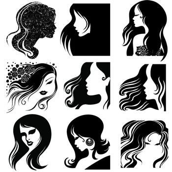Vector Hairstyles  Vector Description  8 Funky Hairstyles For Your