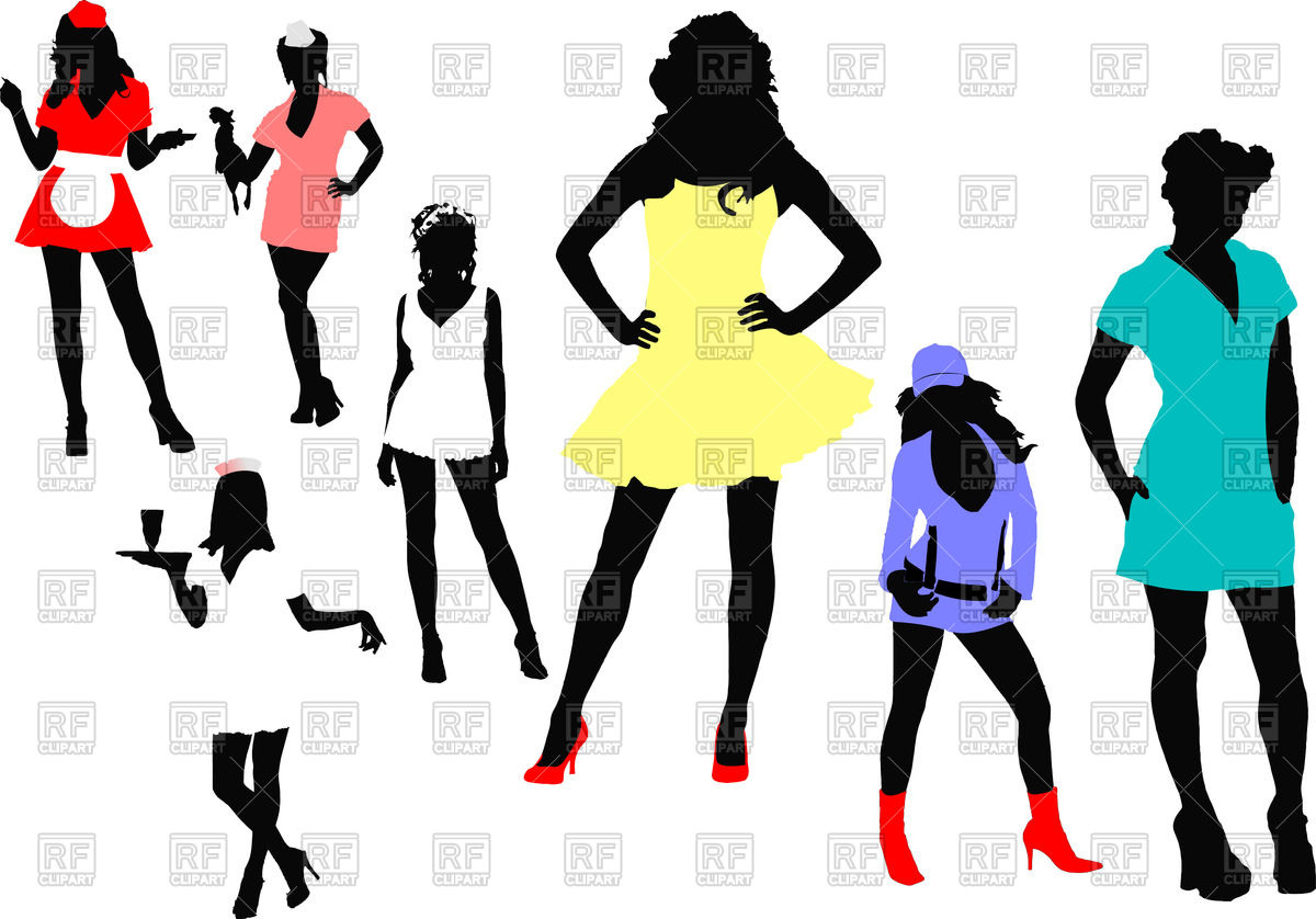 Women Silhouettes 51201 Download Royalty Free Vector Clipart Eps
