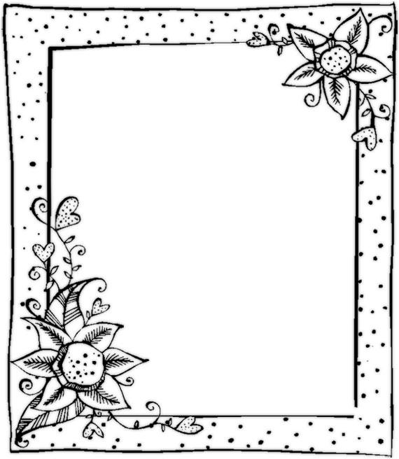 Красивая рамка для поздравления черно белая 66