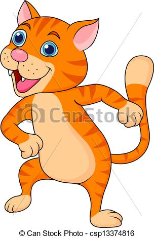 Cat Dancing Csp13374816   Search Clipart Illustration Drawings And