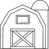 Pics For > Simple Barn Outline