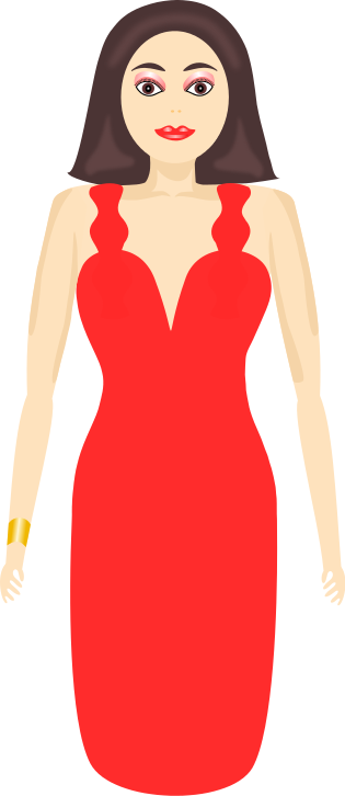 Lady In Red   Http   Www Wpclipart Com Clothes Dress Lady In Red Png