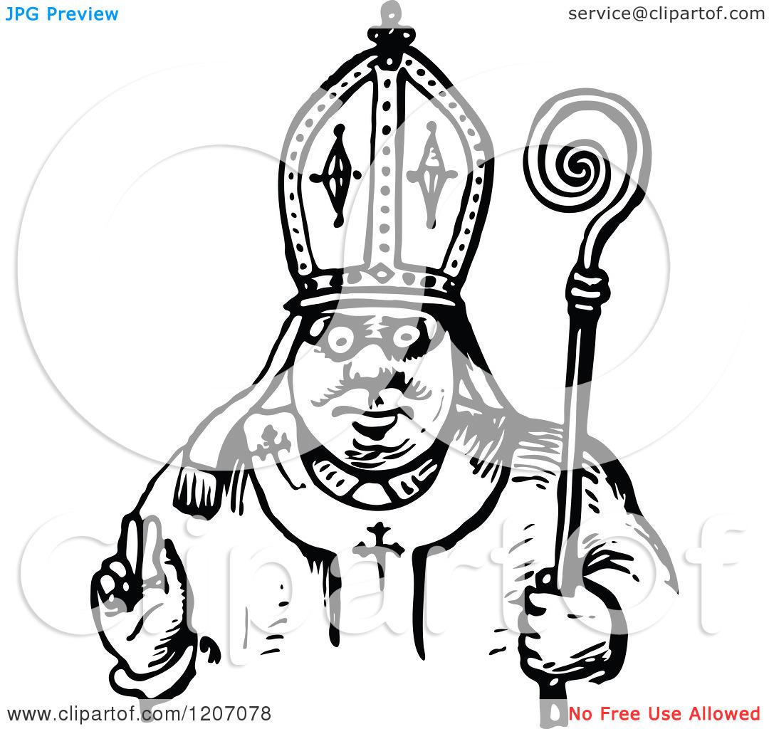 Pope Hat Black White C...