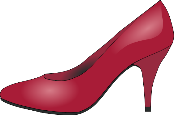 Red Dress Shoe   Http   Www Wpclipart Com Clothes Footware Heels Red