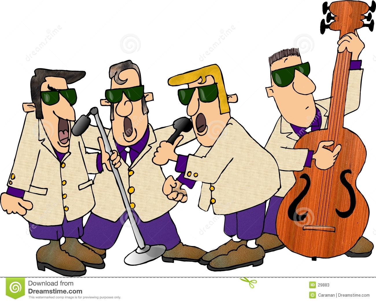 free cartoon rock band clipart - photo #15