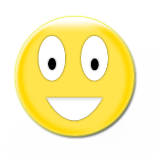 Smiley With Big Smile Black Background Free Cliparts That You Can