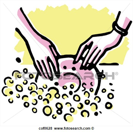 Stock Illustration Of Washing The Dishes Cof0628   Search Eps Clip Art