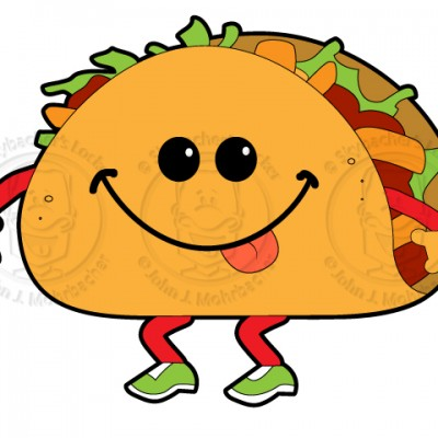 Clip Art Tacos Clipart walking taco clipart kid cartoon clipart