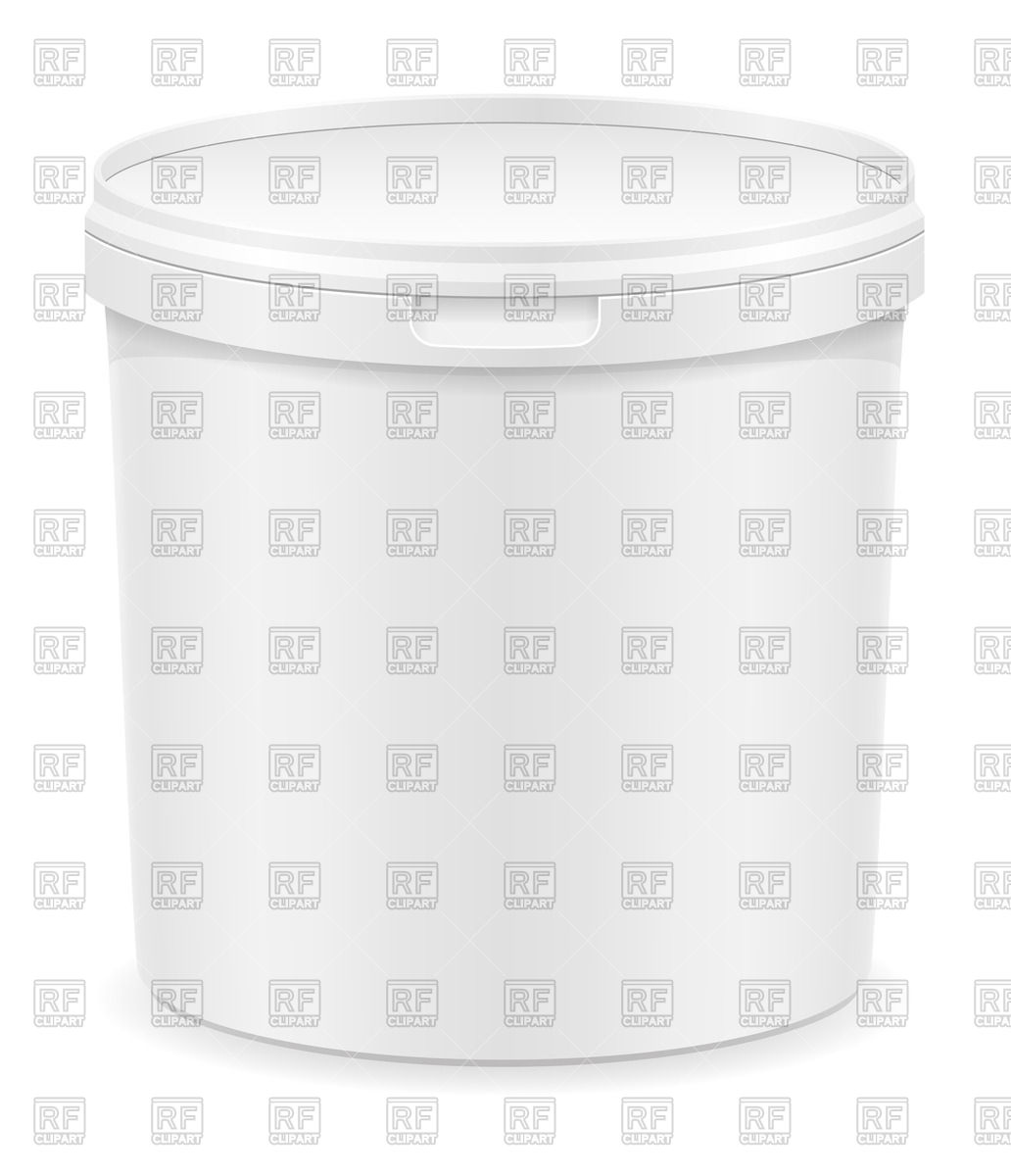 Big Plastic Container For Ice Cream 70762 Objects Download Royalty