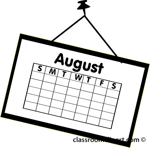 August Calendar Clipart - Clipart Kid