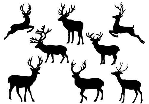 Christmas Deer Silhouette Vectorcategory  Christmas Vector Graphics