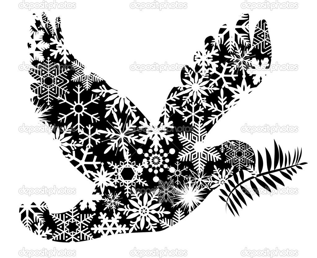 Christmas Peace Dove Silhouette   Stock Photo   Jpldesigns  7152582